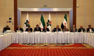 اجتماع لإعضاء الائتلاف الوطني السوري في مقر الائتلاف بتركيا في آذار 2019 (الصفحة الرسمية للائتلاف)