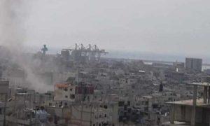 سقوط قذائف صاروخية على حي قنينص في مدينة اللاذقية 13 آذار 2019 (Suliman Mansor)