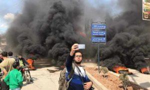 مظاهرات غاضبة في مدينة الباب شمالي حلب ضد الفساد الأمني 22آذار 2019 (مجلس وجهاء عشائر ريف حلب الشرقي)