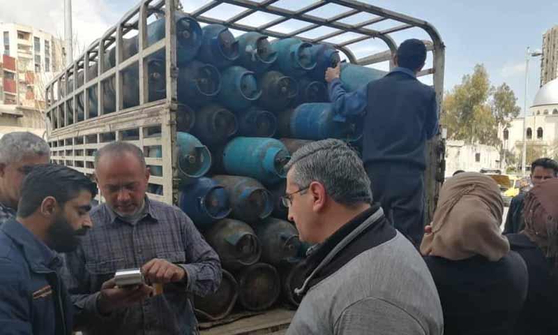 توزيع الغاز عبر البطاقة الذكية في العاصمة دمشق 25 آذار 2019 (الشركة السورية لتخزين المواد البترولية)
