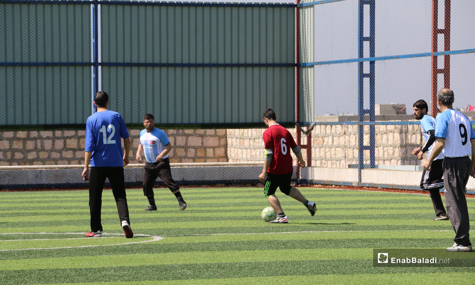 مباراة في بطولة دوري المعلمين لمديريات التربية بريف حلب الشمالي - 21 من آذار 2019 (عنب بلدي)