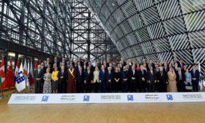 """ممثلو الدول المجتمعة في مؤتمر """"بروكسل 3""""- 14 آذار 2019 (AFP)"""