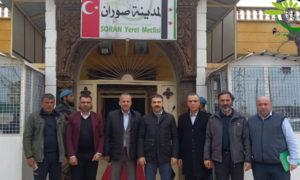 معاون والي كيلس ووفد من وزارة الرياضة والشباب التركية في زيارة لمدينة صوران في ريف حلب الشمالي (مجلس محلي صوران)