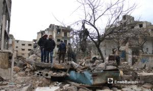 آثار القصف الروسي على مدينة إدلب - 14 من آذار 2019 (عنب بلدي)