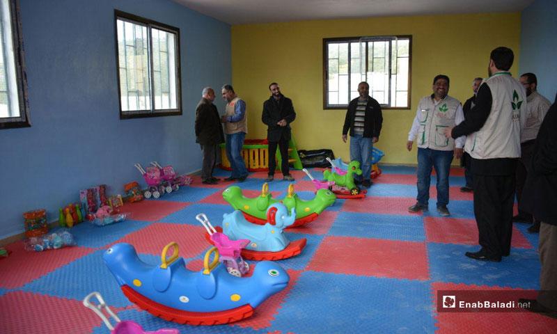 """افتتاح """"مجمع الرحمة لرعاية الأيتام"""" في إدلب- 24 شباط 2019 (عنب بلدي)"""
