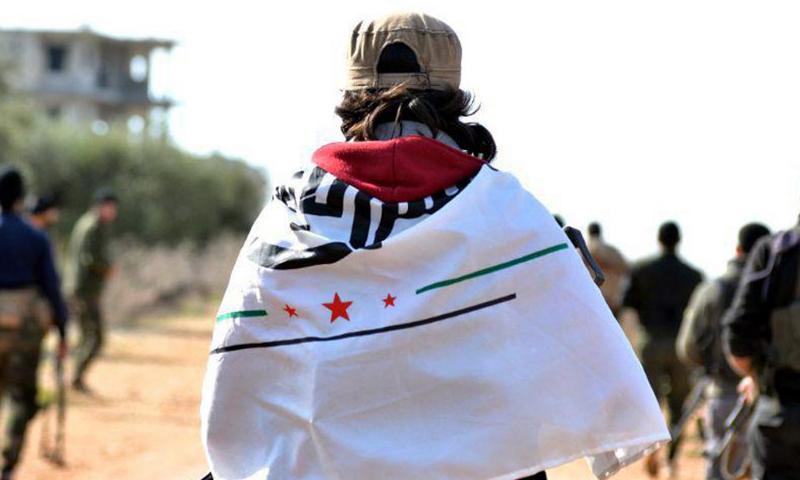 """مقاتل من فصيل """"جيش الإسلام"""" في معسكرات """"غصن الزيتون"""" في عفرين (تلغرام جيش الإسلام)"""