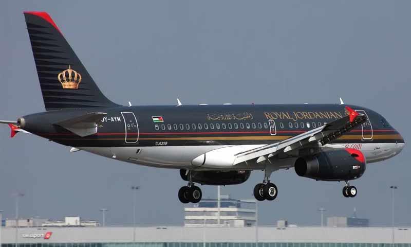 """طائرة تابعة لشركة طيران """"الملكية الأردنية"""""""