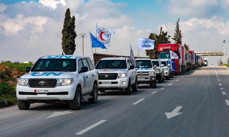 دخول قافلة مساعدات أممية إلى منبج عن طريق الهلال الأحمر السوري- 7 آذار 2019 (UNHCR)
