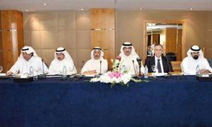 رجل الأعمال الكويتي مرزوق ناصر الخرافي وهو نائب رئيس مجموعة الخرافي (الوسط)