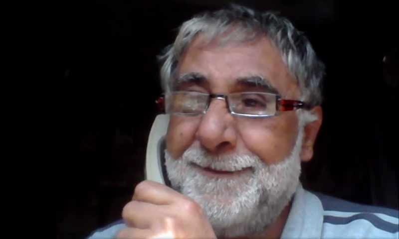 الناشط السوري بشار برهوم (فيديو من حسابه في فيس بوك)