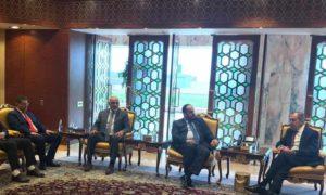 رئيس هيئة التفاوض العليا نصر الحريري ووزير الخارجية سيرغي لافروف- 5 اذار 2019 (هيئة التفاوض العليا)