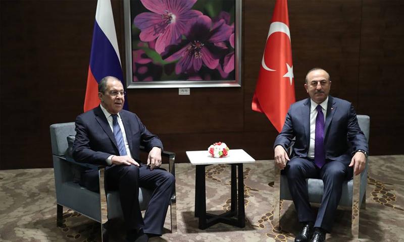 وزيرا خارجية روسيا وتركيا في لقاء بمدينة أنطاليا التركية - 29 من آذار 2019 (الخارجية الروسية)