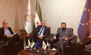"""لقاء ممثلي الاتحاد الأوروبي مع """"الحكومة السورية المؤقتة في مدينة غازي عنتاب (الحكومة المؤقتة فيس بوك)"""