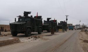 آليات تركية في أثناء تسيير الدوريات المشتركة مع روسيا في تل رفعت - 26 من آذار 2019 (وزارة الدفاع التركية)