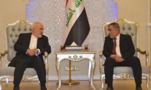 وزير الخارجية الإيراني جواد ظريف في زيارة إلى العراق (إرنا)
