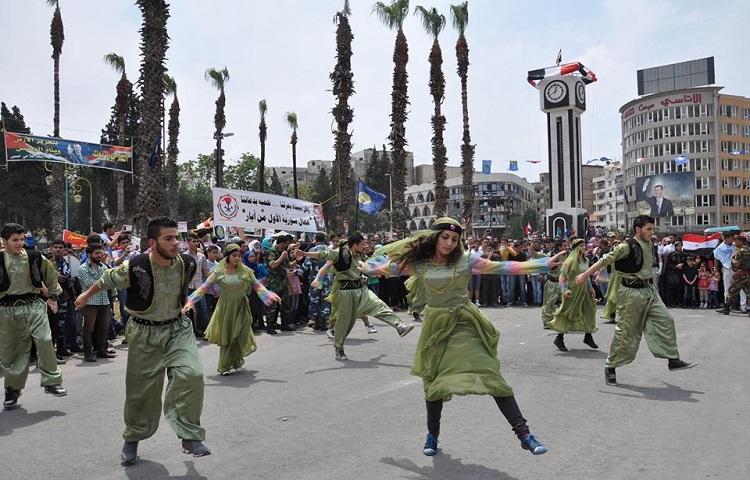 إعادة تأهيل ساعة حمص 10-5-2015