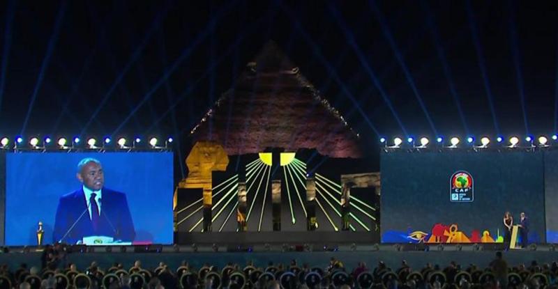 من حفل قرعة امم افريقيا 2019 في مصر - 12 نيسان 2019 (موقع مصر البلد)