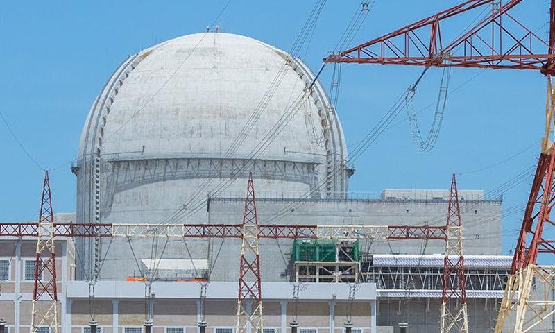 موقع البراكة للطاقة النووية في الامارات العربية المتحدة 31 آذار 2019 (حساب مؤسسة الإمارات للطاقة النووية في تويتر)