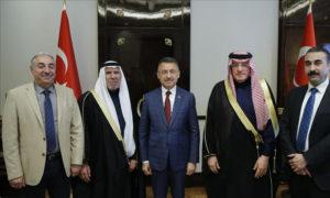 ممثلو عن مجلس العشائر الأعلى في سوريا يلتقون نائب الرئيس التركي فؤاد أوقطاي (الأناضول)