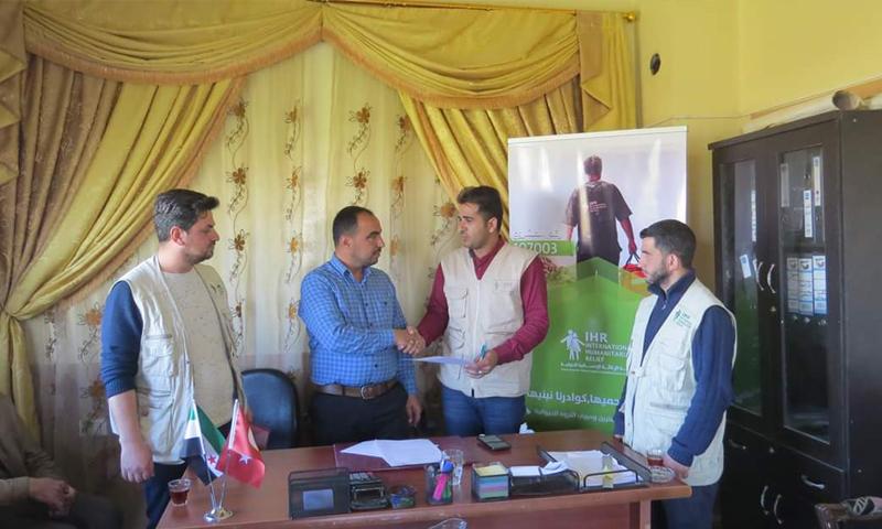 توقيع مذكرة تفاهم بين المجلس المحلي في بلدة كفرة ومنظمة هيئة الإغاثة التركية (المجلس المحلي في كفرة)