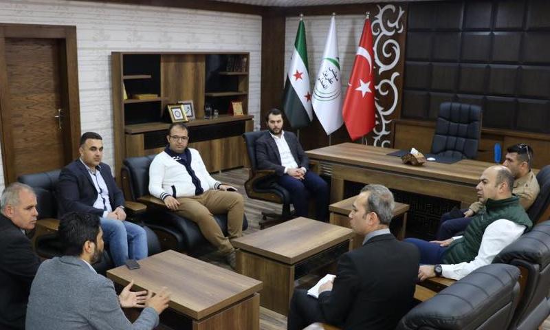 وفد تركي يزور عفرين للاطلاع على عمل دائرة النفوس في المنطقة (مجلس محلي عفرين)