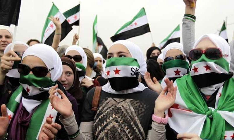 مظاهرة للمعارضة السورية في الأردن - آذار 2013 (Getty)