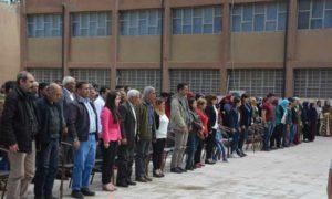 افتتاح أكاديمية لتعليم اللغة الكردية في مدينة القاملشي شرقي سوريا 6 نيسان 2019 (وكالة هاوار)