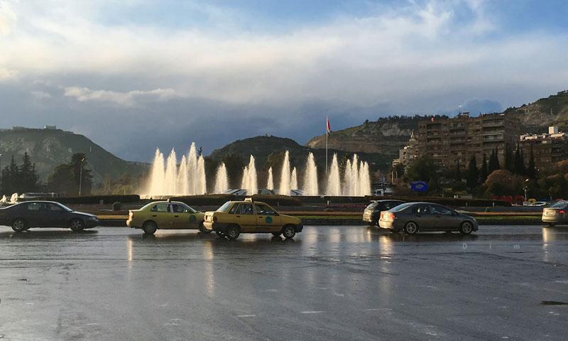 أحياء العاصمة السورية دمشق في ظل أجواء ماطرة 8 نيسان 2019 (عدسة شاب دمشقي)