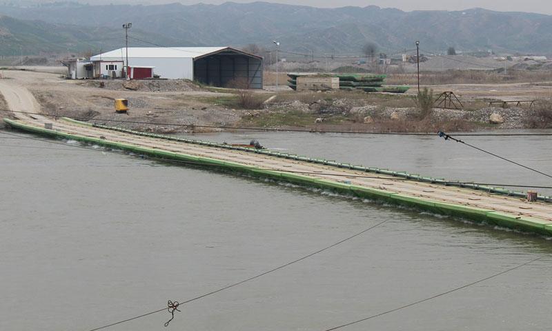 معبر سيمالكا الذي يصل محافظة الحسكة بإقليم كردستان العراق 21 نيسان 2019 (وكالة هاوار)