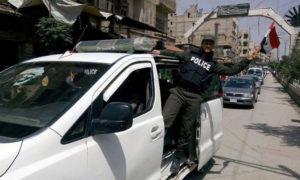 عناصر الشرطة في موكب بمدينة دمشق - صورة تعبيرية (وكالة سانا)