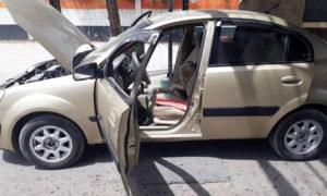 سيارة عثر بداخلها على عبوة ناسفة في منطقة بوابة الميدان في دمشق 24 نيسان 2019 (يوميات قذيفة هاون)