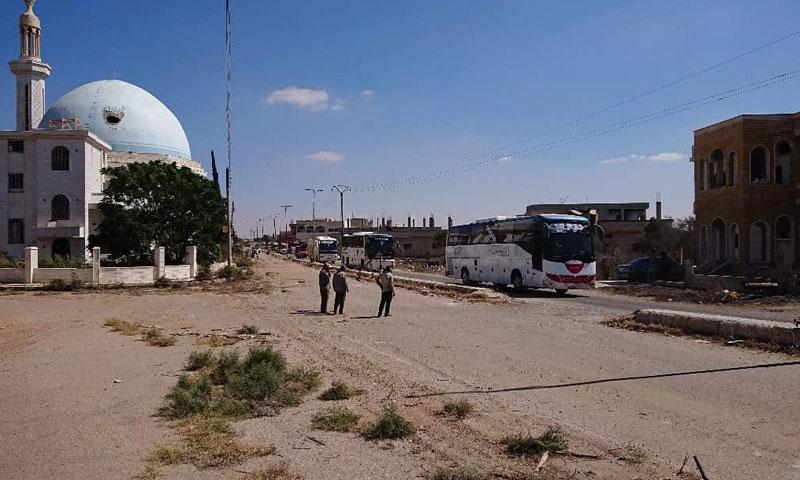 مدينة خربة غزالة بريف درعا آب 2018 (هنا خربة غزالة)