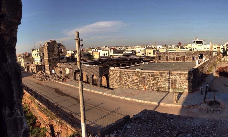 الجامع العمري في مدينة درعا البلد جنوبي سوريا (فيس بوك/مدينة درعا الرئيسية)