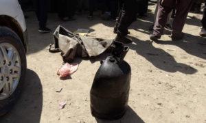 أسطوانة غاز انفجرت في المنطقة الصناعية بمدينة الرقة 28 نيسان 2019 (الرقة تذبح بصمت)