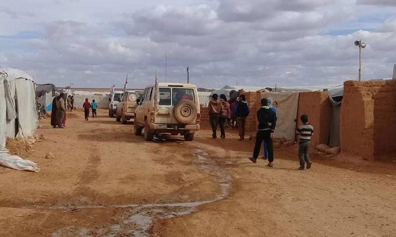 مخيم الركبان على الحدود السورية الأردنية في شباط 2019 (صفحة حمزة بطلنا)