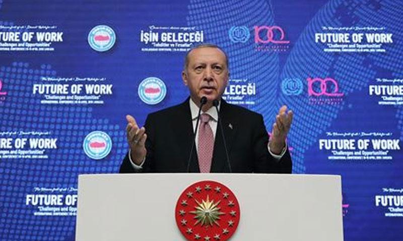 الرئيس التركي رجب طيب أردوغان- 18 من نيسان 2019 (الأناضول)