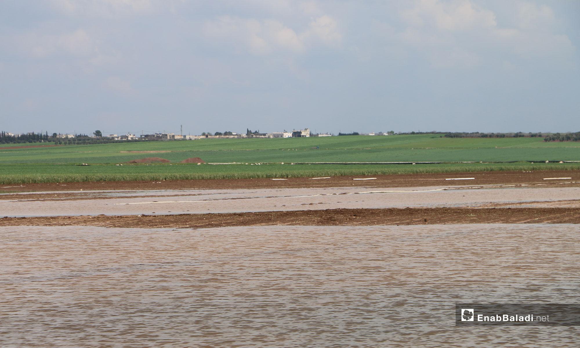 مساحات واسعة متضررة من أراضي ريف حلب الشمالي - 4 من نيسان 2019 (عنب بلدي)