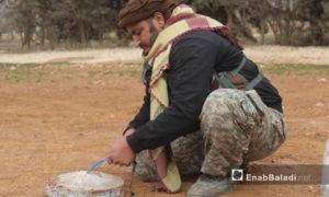 تفكيك لغم متفجر في ريف حلب الشمالي 2017( عنب بلدي)