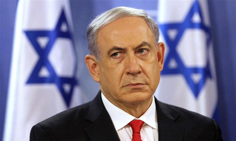 رئيس الوزراء الإسرائيلي بنيامين نتنياهو خلال مؤتمر صحفي في تل أبيب - تموز 2014 (AFP)