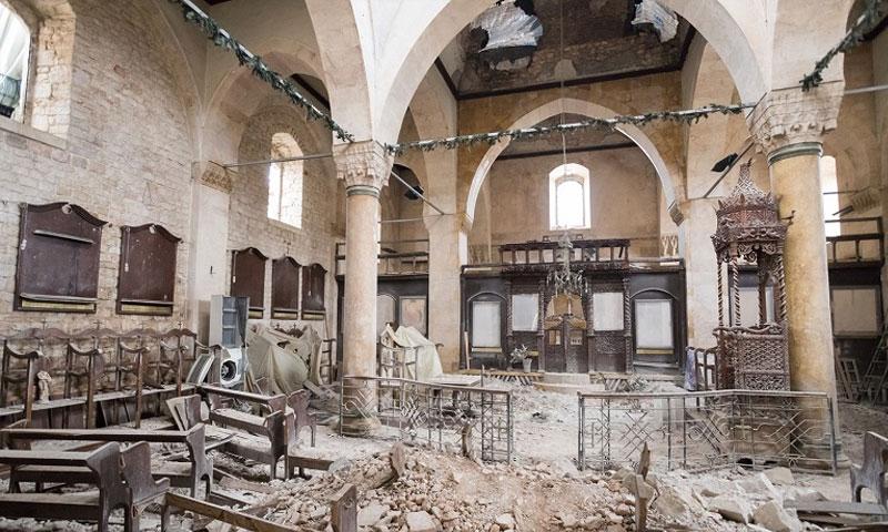 دمار الكنيسة اليونانية الأرثذوكسية في حلب (Open Doors)