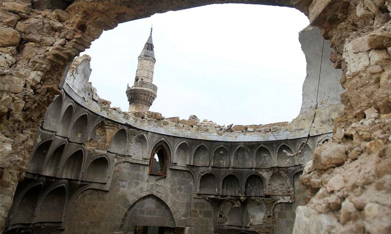 دمار قبة في مسجد في حلب - 31 كانون الثاني 2017 (رويترز)