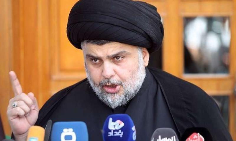 رجل الدين الشيعي البارز وزعيم التيار الصدري في العراق، مقتدى الصدر - (الفلوجة)