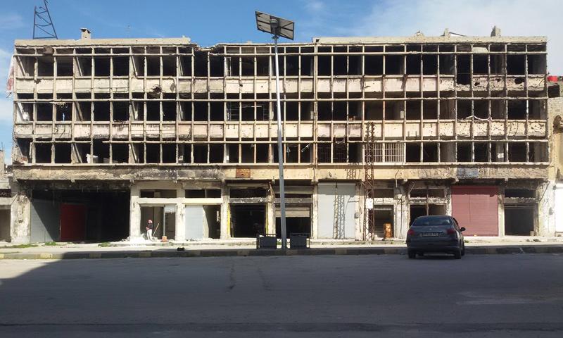 بناء الجندي وسط مدينة حمص - نيسان 2019 (صقحة البناء الرسمية)