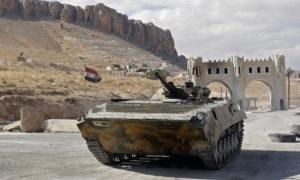 سيطرت قوات الأسد على منطقة معلولا في القلمون-14 من نيسان 2014 (AFP)