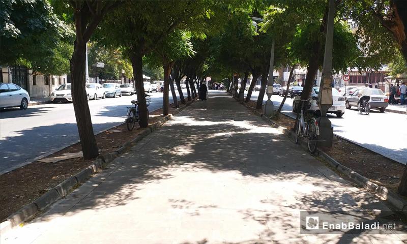 شارع الغوطة في مدينة حمص – 19 من آب 2018 (عنب بلدي)
