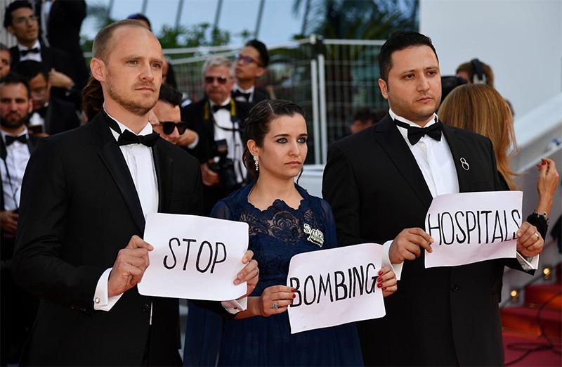 المخرجة وعد الخطيب في افتتاح كهرجان كان 15 أيار 2019 (صفحة فيلم الى سما على فيس بوك)