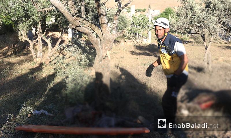 آثار استهداف الطيران لبلدة سفوهن في ريف إدلب الجنوبي - 26 أيار 2019 (عنب بلدي)