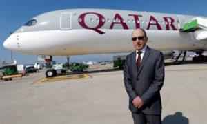 أكبر الباكر المدير التنفيذي لشركة الخطوط الجوية القطرية (رويترز)