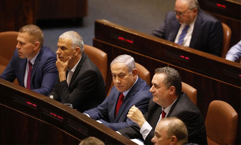 رئيس الوزراء الإسرائيلي بنيامين نتنياهو في الكنيست - 29 أيار 2019 (AP)