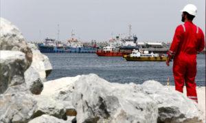 ميناء الفجيرة في الإمارات العربية المتحدة- 13 أيار 2019 (رويترز)